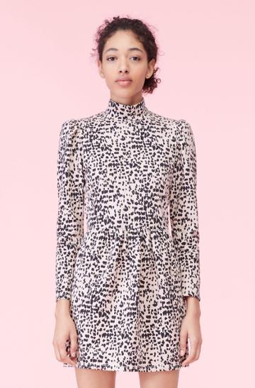 Rebecca Taylor Rebecca Taylor La Vie Dot Print Jersey Dress