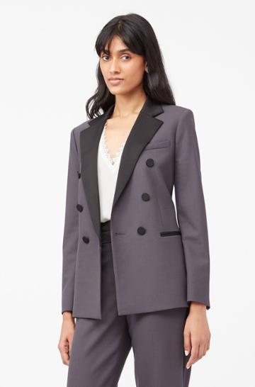 Rebecca Taylor Rebecca Taylor Tailored Gabardine Suiting Blazer
