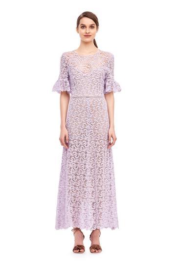 Rebecca Taylor Eliza Lace Midi Dress