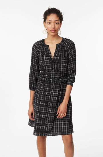 Rebecca Taylor Plaid Silk Dress