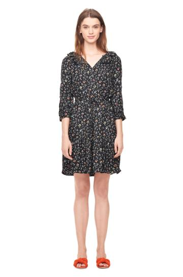 Rebecca Taylor Vine Print Silk Shirtdress