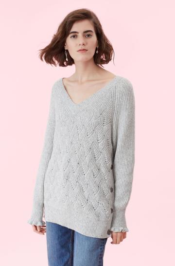 Rebecca Taylor Novelty Stitch Pullover