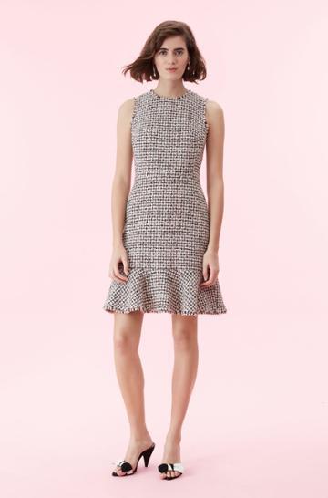 Rebecca Taylor Houndstooth Tweed Dress