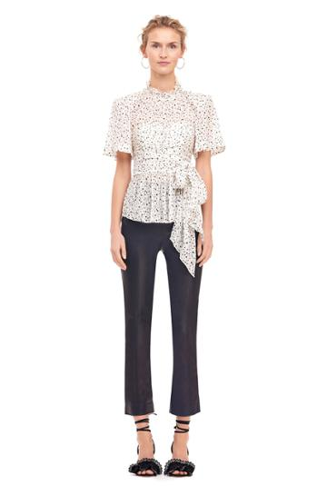 Rebecca Taylor Scattered Star Print Wrap Top