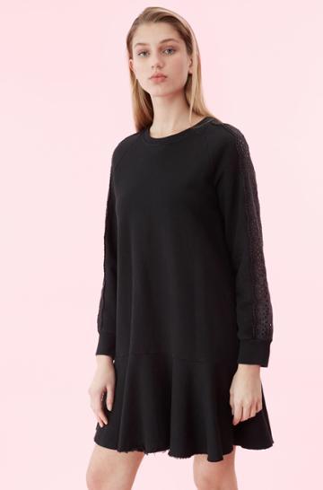 Rebecca Taylor La Vie Eyelet Fleece Dress