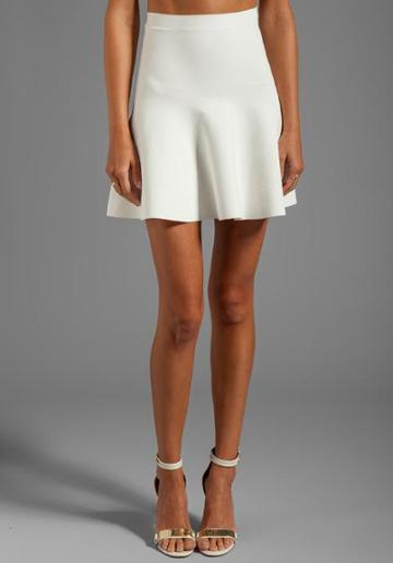 Bcbgmaxazria Fit And Flare Skirt In White