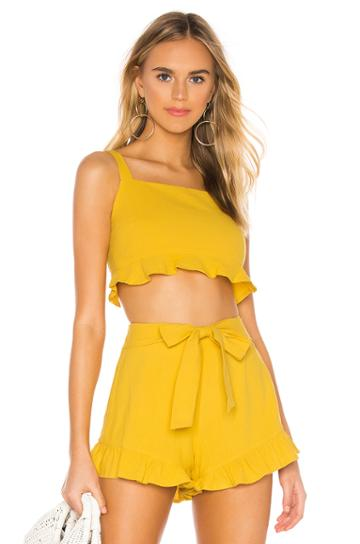 Camille Crop Frill Top