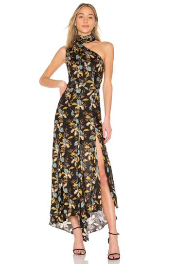 Ava Floral Tie Neck Maxi Dress