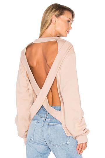 Crossed Laces Crewneck Sweatshirt