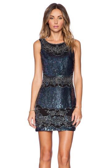 Lace Cut-out Mini Dress