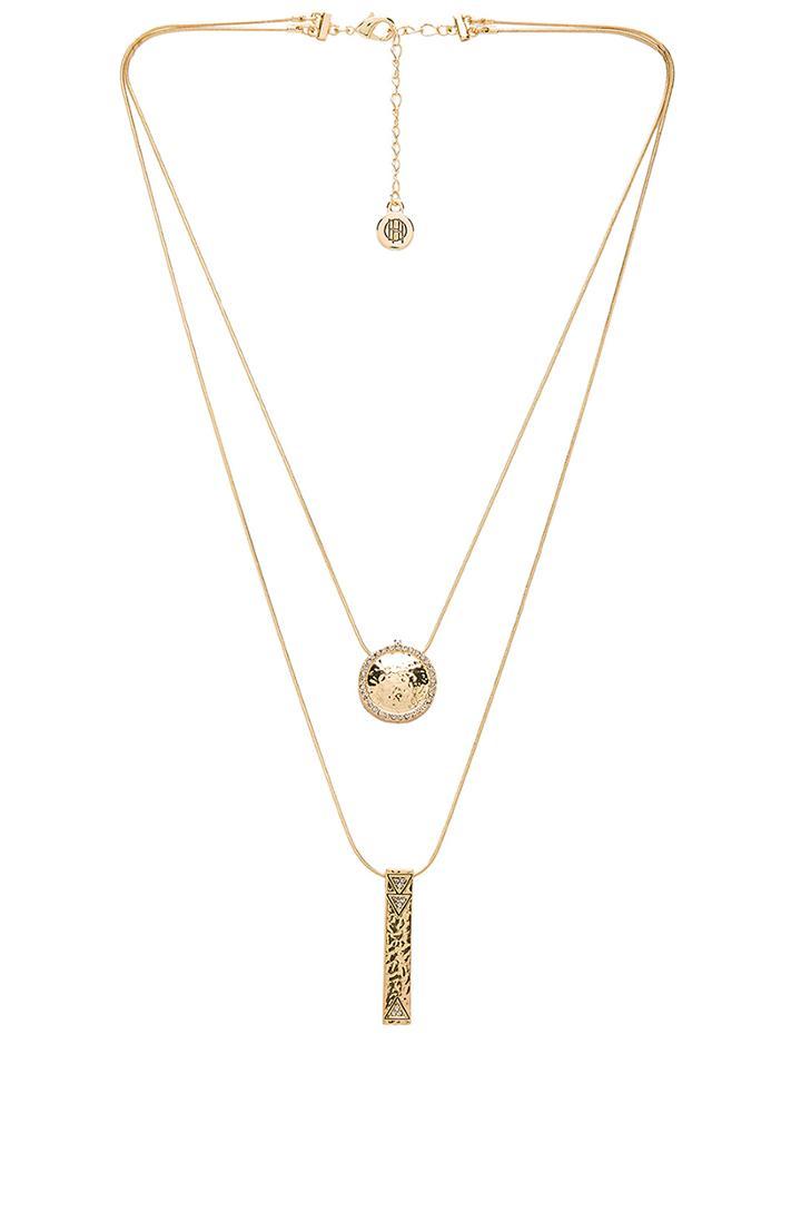 Scutum Double Pendant Necklace