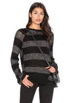 Offset Stripe Sweater