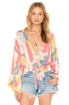 That's A Wrap Printed Top