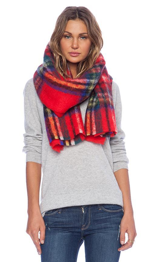 Scotch & Soda Blanket Scarf In Red