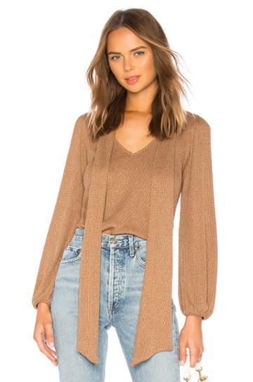 Metallic Rib Juliet Sweater Top