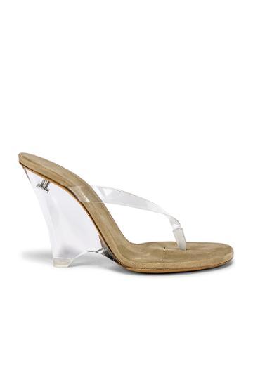 Season 8 Pvc Wedge Thong Sandal