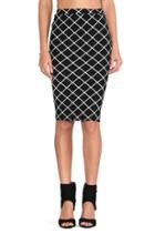 Bowie Check Pencil Skirt