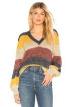 Striped Metallic Mohair Pullover