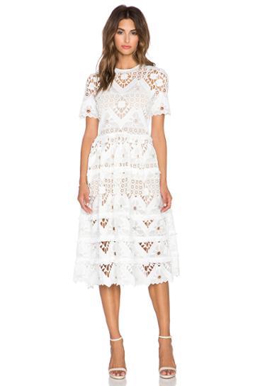 Benati Crochet Midi Dress