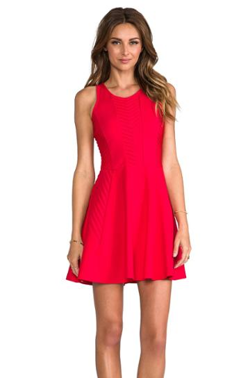 Parker Fay Dress In Red