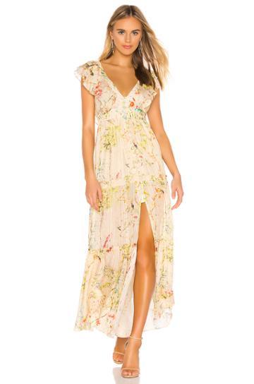 Veena Lurex Satin Stripe Dress