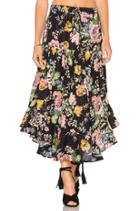 Delilah Frilled Midi Skirt