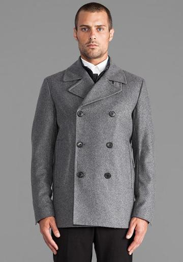 Theory Tanker Coat In Gray