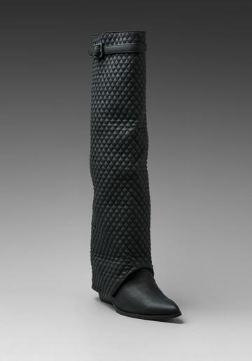 Jeffrey Campbell Workin Q Foldover Boot In Black