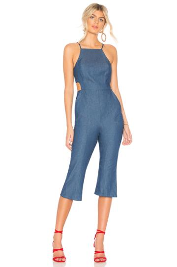 Cropped Flare Jumpsuit