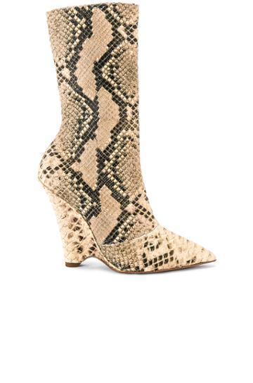 Season 8 Python Wedge Ankle Boot