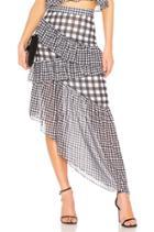 Asymmetric Ruffle Maxi Skirt