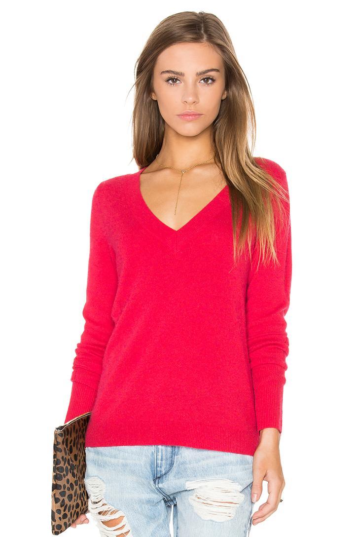 Rib V Neck Sweater