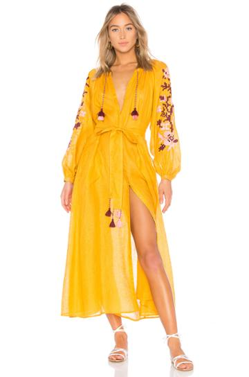 Adele Linen Maxi Dress