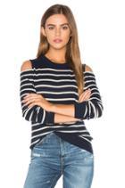 Cold Shoulder Stripe Sweater