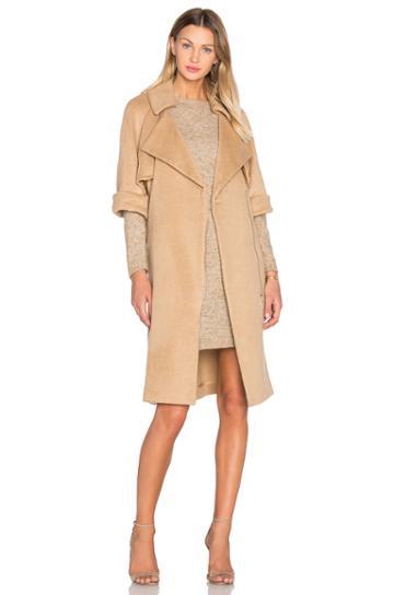 Short Sleeve Flap Coat