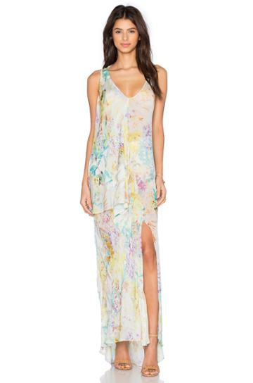 Botanic Print Maxi Dress