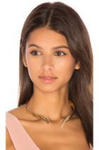 Curl Ribbon Cuff Necklace