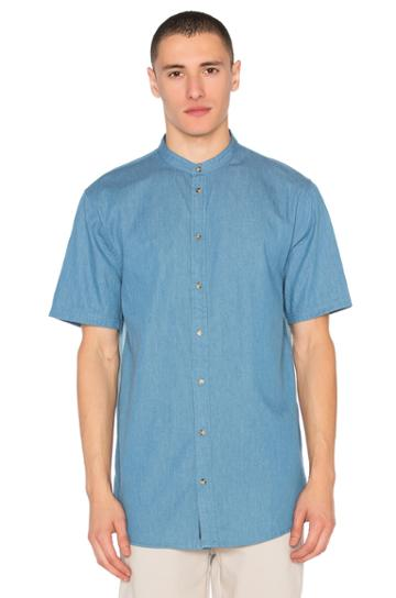 Denim Mandarin Shirt