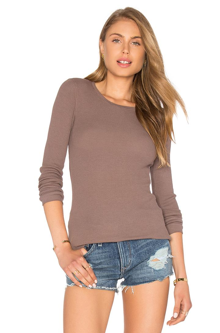 Modal Thermal Long Sleeve Crew Neck Top