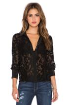 Shirred Lace Blouse