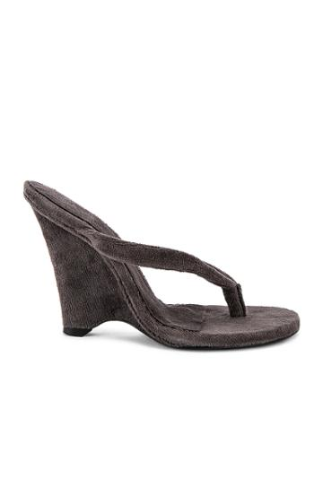 Season 8 Terry Cloth Wedge Thong Sandal