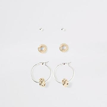 River Island Womens Silver And Gold Colour Earring Multipack