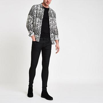 River Island Mens Coated Ollie Spray On Jeans