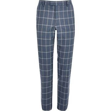 River Island Mens Check Suit Trousers