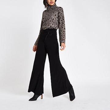 River Island Womens Tie Front Wide Leg Trousers