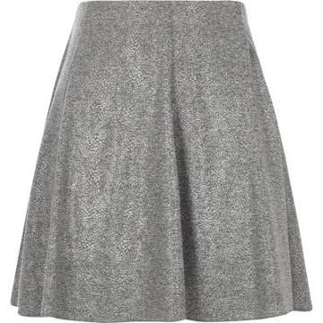 River Island Womens Melange Flippy Mini Skirt