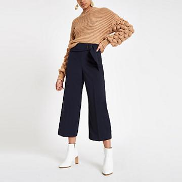 River Island Womens Buckle Belted Culottes