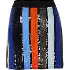 River Island Womens Stripe Sequin Mini Skirt