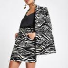 River Island Womens Zebra Print Paperbag Skirt