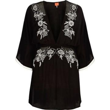 River Island Womens Embroidered Beach Caftan Cover Up